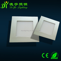 Silver Color small square LED Panel light from DEYU lighting Exclusive production and sales.and for high grade for vill