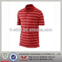 Men S Mecerized Striped Golf Polo