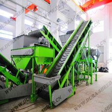 automatic whole waste tyre/tire recycling plant to rubber powder