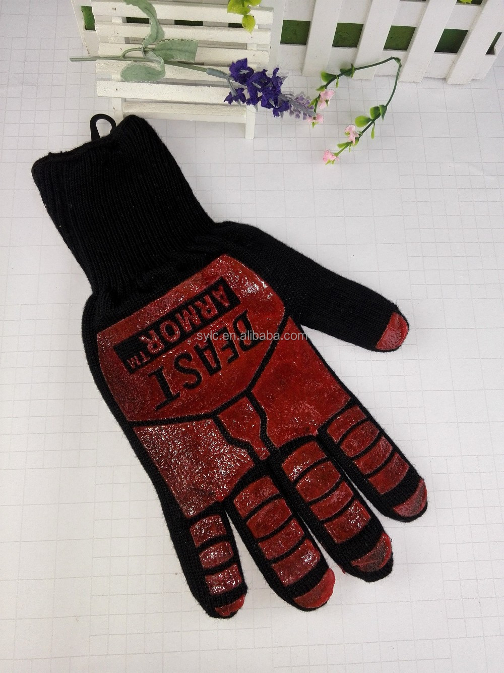 Aramid outdoor barbecue BBQ grill gloves special glove supply foreign trade companies