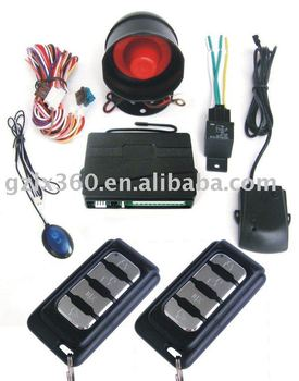 12V auto alarm security with car alarm siren