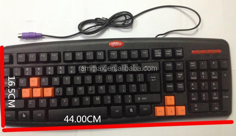 New anti water Wired USB/PS2 Keyboard