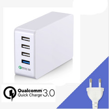 38W Quick Charge 3.0,Keyuantai Qualcomm SAA Certified QC3.0 Usb Wall Charger 5V 7A 4-Port Multi-Port Usb Charger