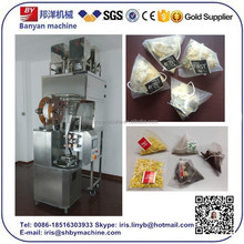 Automatic Nylon Traingle Tea Bag Packaging Machine With Thread and Tag