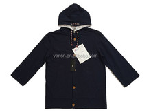 Mens spring navy hooded 100% cotton loose sweatshirts
