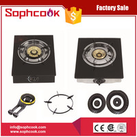 Tempered Glass Single Burner Glass Gas Stove Made in China