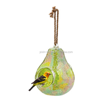 Ring form garden mosaic glass hanging automatic pigeon water feeder