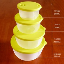 Promotional gift Air Vent 5 PCS Plastic Food Container with Sealed Lid