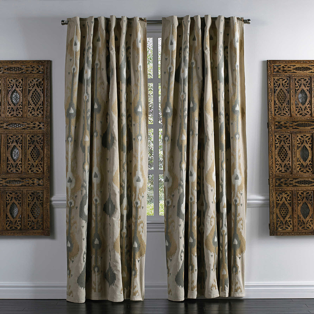 Luxury American christmas church jacquard window curtain for sunshade