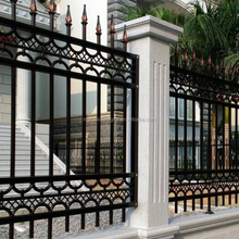 models houses to iron fence,low price iron fence,latest simple wrought iron fence