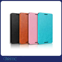 MOFI PU leather + PC flip case cover for smart htc one m9 plus