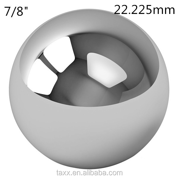 "Free shipping ex-stock 7/8"" bearing steel ball 22.225mm <strong>g10</strong> 100cr6 large chrome ball"