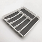 plastic nonslip silicone Cutlery Tray 6 Compartment for Kitchen Drawer Organizer