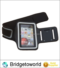 New black leather sport armband neoprene case for iphone 4