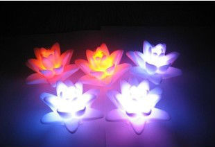 Multi-Colored And lotus flower candles