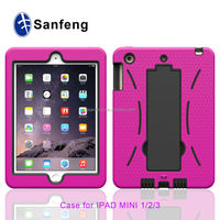 2015 new factory price for apple ipad mini 3 shockproof case / multi-color available rubberize cove for ipad mini 3 case