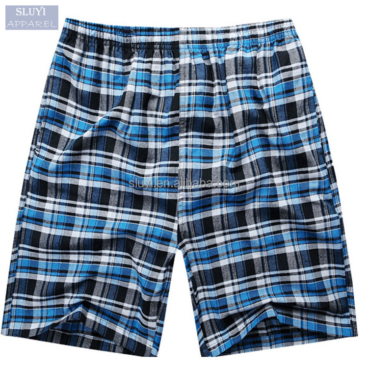 blank board shorts Mens 2017 summer classic colors plaid beach surf pants cotton casual comfortable breathable Men boxer shorts