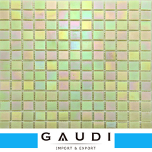 Foshan supply rainbow color glass mosaic tile for swimming pool