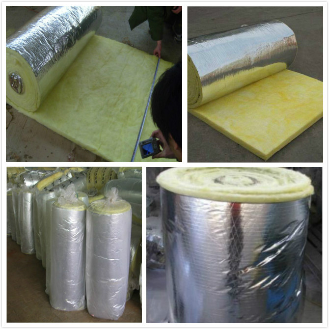 Glass wool fiber glass wool insulation glass wool with for Glass fiber blanket insulation