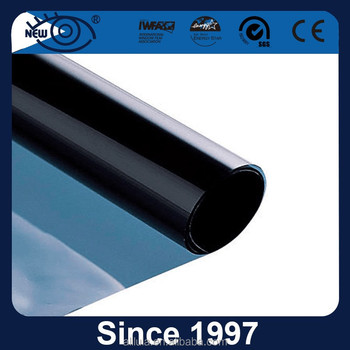 80A refective blue background 1 ply window tinting solar control film