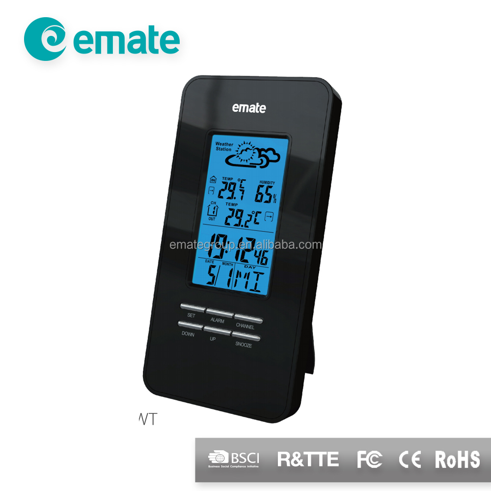 Wireless Weather Station with indoor and outdoor temperature(Emate)