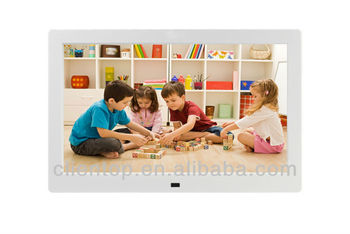 "10.1""Multifunction lcd advertisment displayer Digital Photo Frame support resolution 1024*600 in white color"