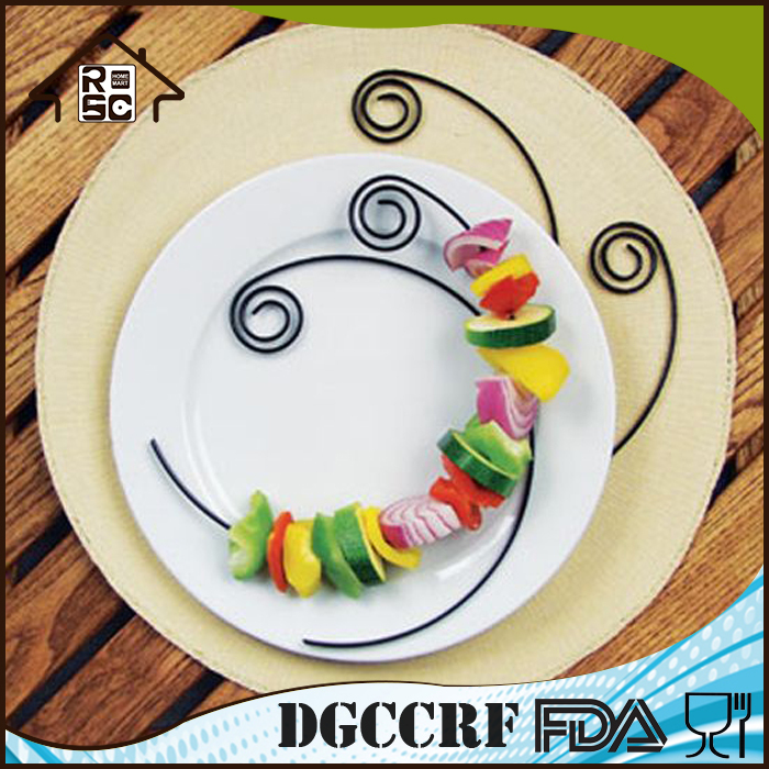 Food Grade Safe Non-Stick Stainless Steel BBQ Circle Kabob Plate Skewers