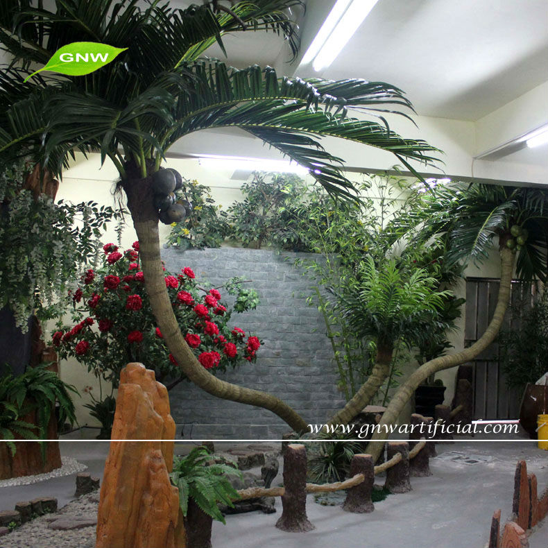 GNW APM022 Wholesale Artificial Tree Palm trees for outdoor decorative plaza hot sell