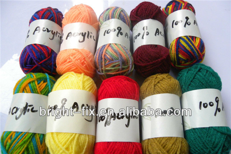 colorful baby knitting yarn