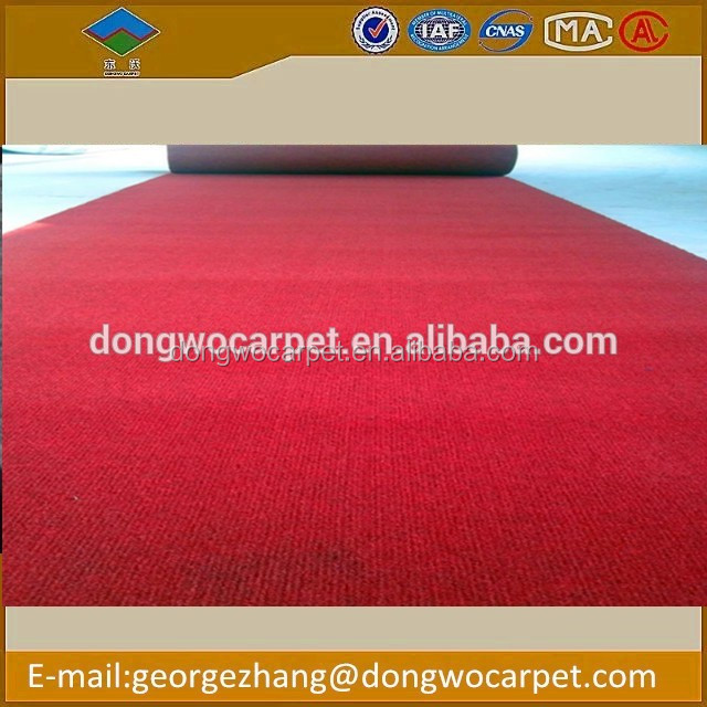 Trade assurance ribbed-surface non woven Carpet Plain Exhibition Carpet high quality low price