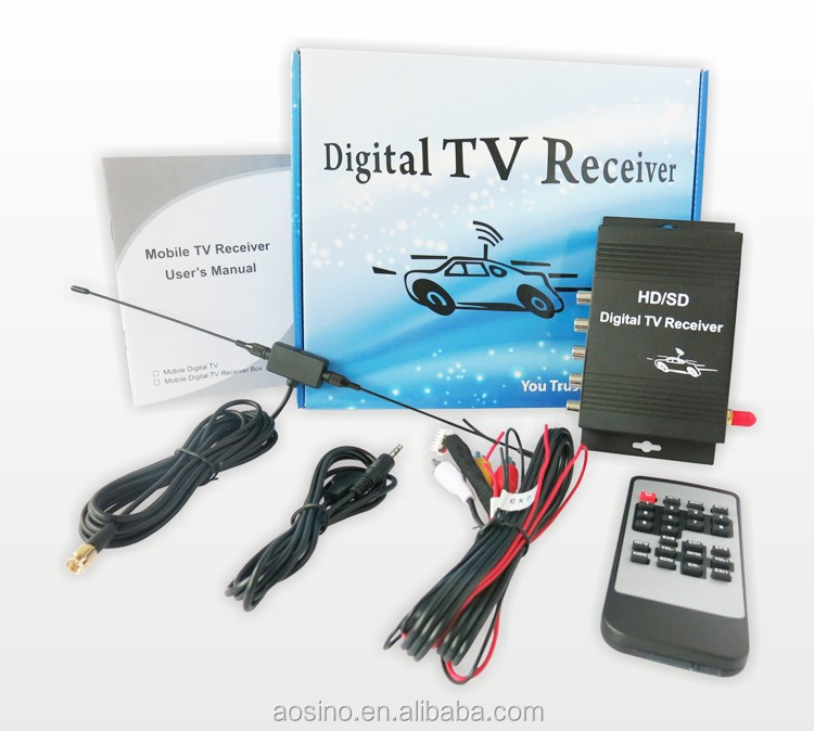 190km/h car isdb-t tv tuner receiver box car digital tv box with 4 video output