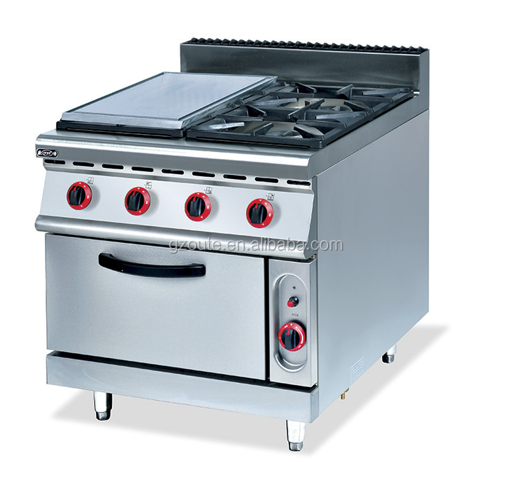Hotel Kitchen Equipment Gas Griddle And Grill Stove