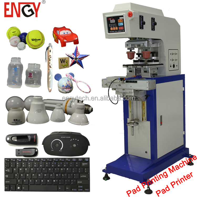 auto 1 color two heads pad printing equipment for sale