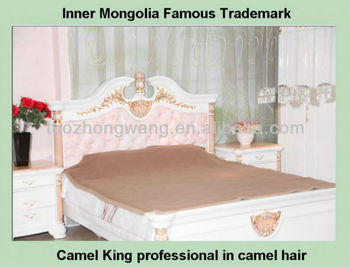 well selling double camel hair blanket