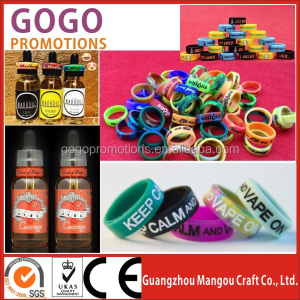 Promotional Mini high quality eco-friendly printed silicone finger ring vape band,Top grade printing silicon vape band vapeband