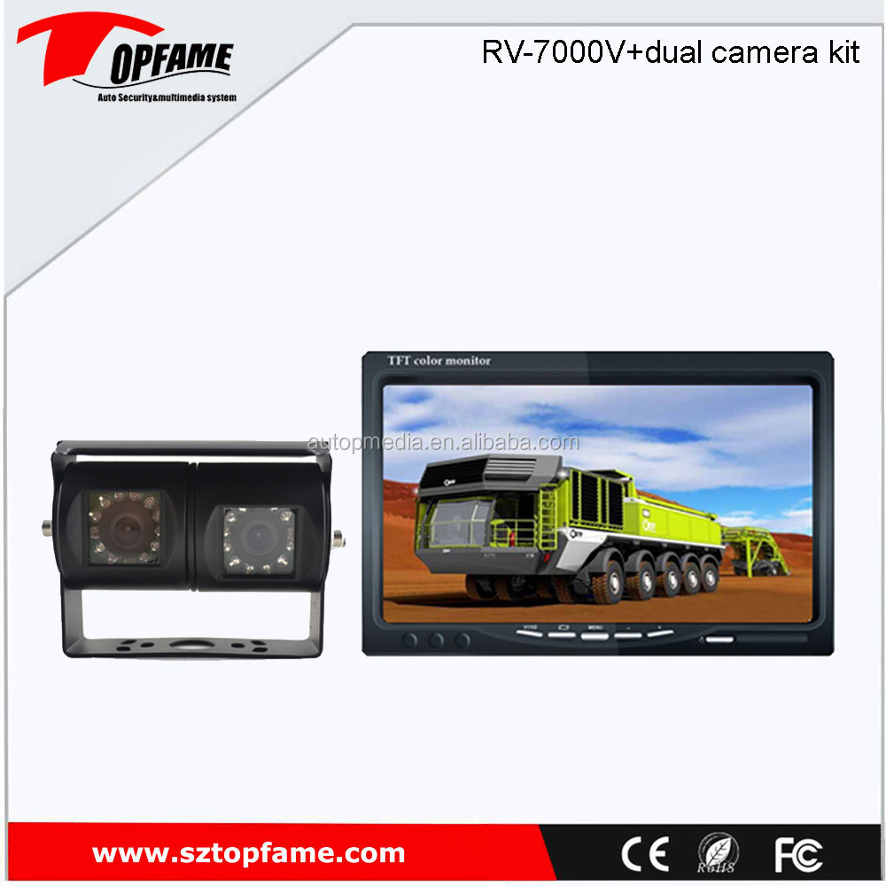 truck bus backup camera system with 7inch digital LCD monitor, rear view camera, full kit with waterproof 4pin jack