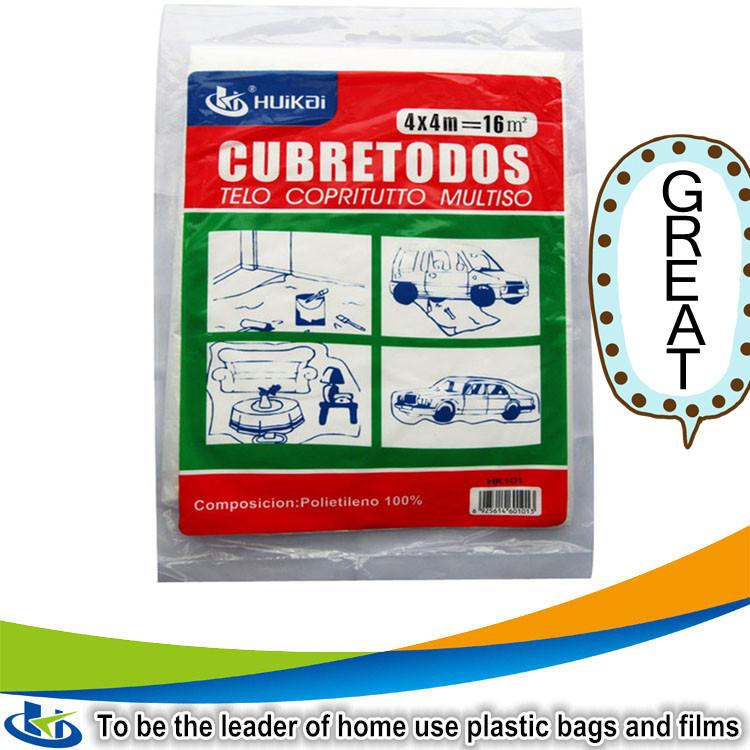 amazon top seller paint protection plastic sheet ldpe plastic painter drop cloth bed sheet polythene