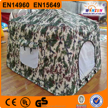 hot sale portable airtight military used inflatable camp tent