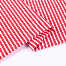 Custom cheap jersey 100% cotton stripe fabric clothing materials for sale