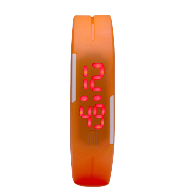 Silicone Rubber Fashion Digital LED Bracelet Wrist Watch for Promotional