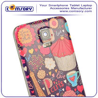 creative design mobile phone accessories Embossed Plastic Replacement Battery Cover custom Cover for Samsung Galaxy S5 i9600