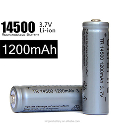 Wholesale lowest price Toy Battery r6 aa size battery li-ion 1200mah 3.7v icr 14500 1200mah auxiliary battery