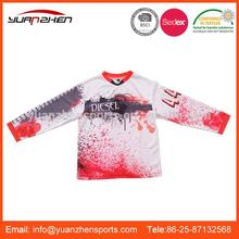 YuanZhen-On time delivery serviceable custom top quality sublimation motorcycle jersey sportswear