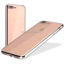 New arrivel 4 colors electroplating bumpers soft TPU back cover case for iphone 7 7 plus
