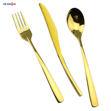 Hot sale gold cutlery set copper cutlery gold plated