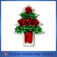 christmas ribbon flower,pp ribbon bow for gift wrapping