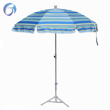 polyester blue stripes outdoor umbrella/ beach parasol beach umbrella