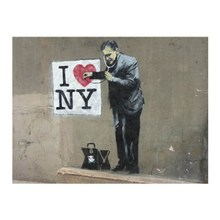 I lOVE YOU New York Banksy Canvas Wall Hanging Art for Wall