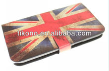 Flip national flag leather case for samsung galaxy note 2 n7100