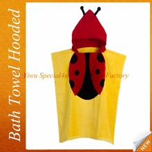 High quality soft and high absorbency hooded baby bath towel kids cloak bath towel terry children hooded bath towel SYBT-038